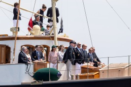 Prince Albert, Princess Caroline with family and friends on board Pacha III at depart of Monaco Globe Series, Sunday, June 3, 208 @Studio Borlenghi. a Pisapia