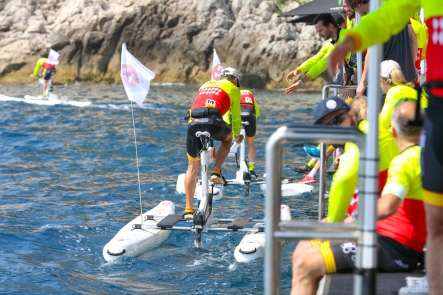 Relay format for the Riviea Water Bike Challenge 2018 ©EdWImages