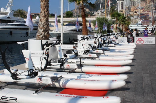 Schiller SC1 water bikes lined up for 2nd edition of Riviera Water Bike Challenge @CelinaLafuentedeLavotha