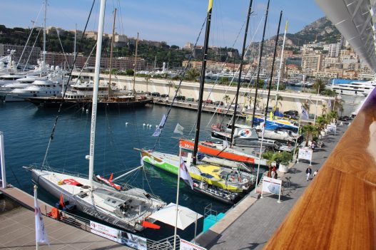 The IMOCA 60's docked at the YCM before departure of Monaco Globe Series @CelinaLafuentedeLavotha