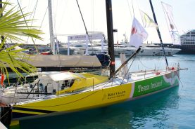 The Kilcullen Team Ireland IMOCA 60 docked at the YCM @CelinaLafuentedeLavotha