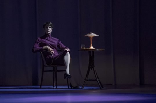 Dancer Asier Edeso portraying journalist Sylvia von Harden in The Lavender Follies by Joseph Hernandez @Alice Blangero