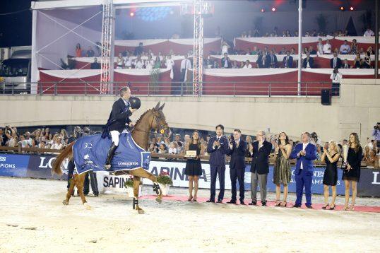 Lap of honour for Shane Breen, winner of the LGCT Grand Prix du Prince de Monaco presented by Sapinda @Stefano Grasso/LGCT