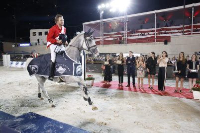 Longines Pro-Am Cup, 1st Team Federation Equestre P. of Monaco, 2 Team Equitheme, 3 team Monaco. Trophies presented by HRH Princess Caroline of Hanover, Charlotte Casiraghi, D. Fissore, S. Guelat @Stfano Grasso/LCGT