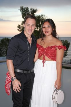 Lois Ducruet son of Princess Stephanie with his fiancee Marie Chevallier in their Gypsy attire Gala 2018@FAM Press