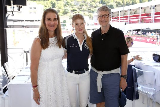 Melinda and Bill Gates with their daughter Jennifer @Stefano Grasso/LGCT