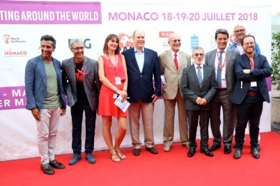 Prince Albert II with Bernard Fautrier, Patrice Cellario, Alberto Colman,José Giannotti and other Monaco personalities @ WSM