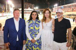 Sheikha Al-Mayassa bint Hamad Al-Thani, Prince Talal of Jordan and his wife Ghida, Jan Tops @Mario Grassia/LCGT
