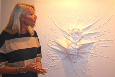 4. Special Jury Prize Aurelie Mangano with her artwork Slingshot, GemlucArt 2018 @CelinaLafuentedeLavotha