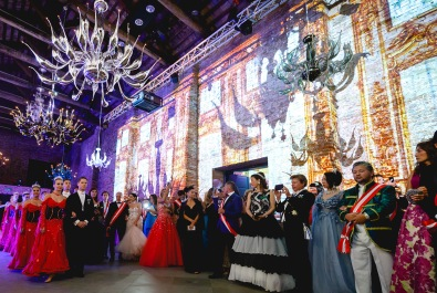 Guests at The Grand Ball of Princes and Princesses in Venice, August 2018 @noblemontecarlo