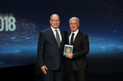 HSH Prince Albert and Didier Deschamps, Sportel 2018 @Sportel All rights reserved