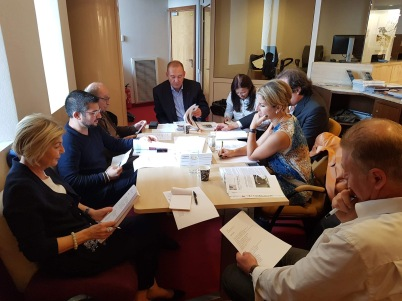 Members of the Jury deliberating, GemlucArt 2018 @Yvon Kergal