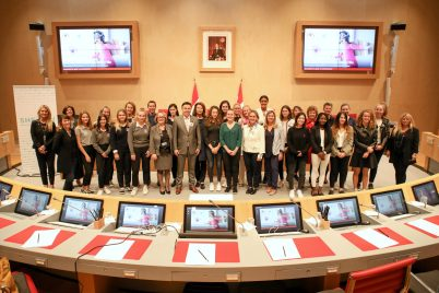 Stephane Valeri, MP's, members of SheCanHeCan and Monaco students participating in #Girl2Leader Campaign @Monaco National Council