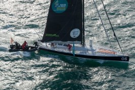 Alexia Barrier on board 4myplanet 2, Route de Rhum 2018 @Alexis Courcoux(2)