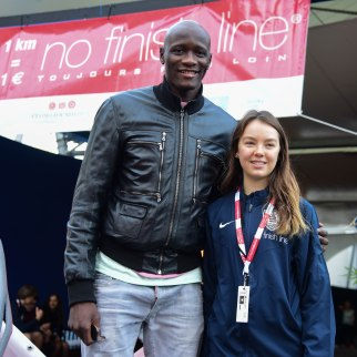 Amara Sy, parrain of the NFL and Princess Alexandra of Hannover @NFL2018