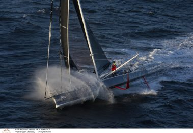 Boris Herrmann on board IMOCA MALIZIA II training before departure Route du Rhum 2018@Jean-Marie LIOT