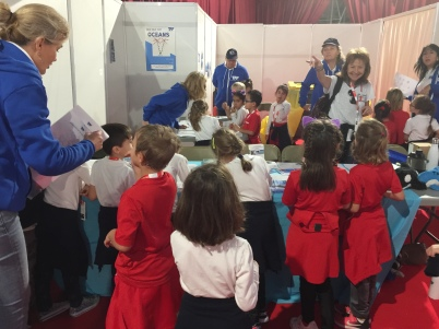 Children at the TAF stand during NFL 2018 @TAF