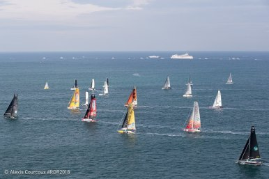 Competitors in the Route de Rhum 2018 @Alexis Courcoux