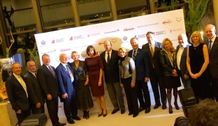 HSH Prince Albert II of Monaco with HE Maguy Maccario Doyle and the NASA's legends at the screening in Monaco of Above and Beyond by Rory Kennedy@CelinaLafuentedeLavotha
