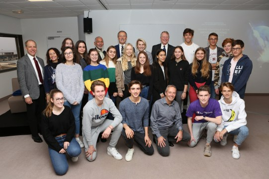 NASA's legends and Monegasque students, November 23, 2018 @Monaco Mediax