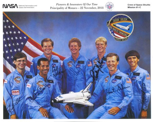 Crew members of the January 1986 Columbia Space Shuttle @NASA