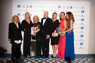 Prince Albert II of Monaco with Kerry Kennedy, Lia Riva and her family, Monaco 2018 @ Loic Thebaud