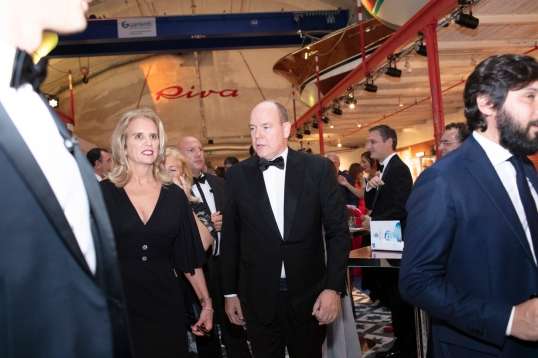 Prince Albert II of Monaco with Kerry Kennedy, Monaco 2018 @Loic Thebaud