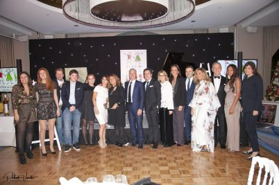 Bouran Hallani, Didier Dechamps and his spouse, Stephane Valeri, presenter Lama Lawand, the Mayor of Beausoeil and other distinguished guests, Les Amis du Liban, Christmas for All, 2018