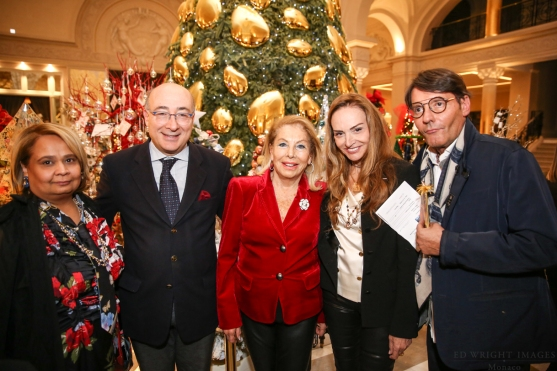 Louisette Levy Soussan Azzoaglio with HE Cristiano Gallo, Ambassador of Italy in Monaco, Hinduja S.P. Shanu and Giuseppe Trombi ©EdWrightImages