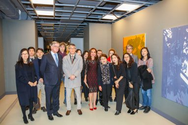 HE Patrick Medecin with Mr Park Representative of the South Korean Embassy and Korean artists
