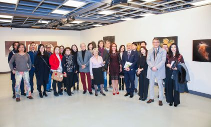The group of Korean artists with Monegasque guests, 2018 Salon Artist Experience