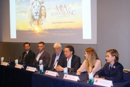 Langley Kirkwood, Kevin Richardson, Jacques Perrin, Gille de Maistre, Daniah De Villiers and Ryan Mac Lennan at Press Conference, Monaco, November 30, 2018 @CelinaLafuentedeLavotha