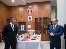 HSH Prince Albert II and Jeremy Bottin,StadeLouis II@Palais Princier Monaco
