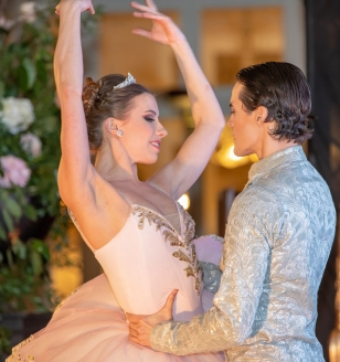 Ballet dancers Irina Lerman and Alexei Tyutyunnik performing at the Grand Ball of Princes and Princesses, February 14, 2019@Noble Monte-Carlo