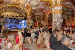Singer Anna Soklich performing at The Grand Ball of Princes and Princesses, February 14, 2019@Noble Monte-Carlo