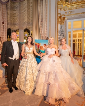 Mayor Georges Marsan and his wife with Delia Grace Noble and Alessandra Mussoni@Noble Monte-Carlo