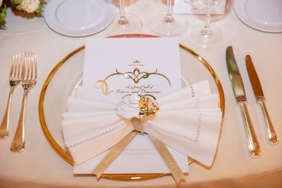 Place setting for The Grand Ball of Princes and Princesses, February 14, 2019@Noble Monte-Carlo