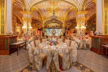 The Salle Empire decorated for The Grand Ball of Princes and Princesses, February 14, 2019.@Noble Monte-Carlo