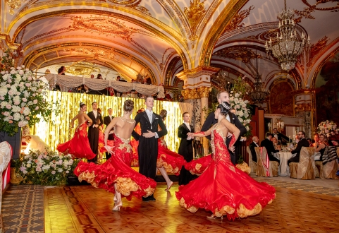 The Ballroom dancers group TK TS Starlet Brno performing at The Grand Ball of Princes and Princesses, February 14, 2019@Noble Monte-Carlo
