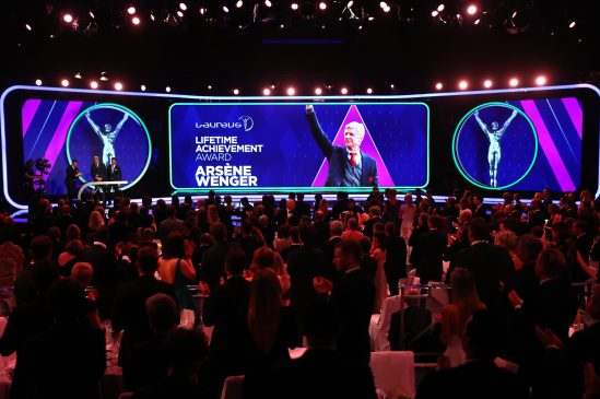 Arsene Wenger receiving the Life Achievement Award, LWSA 2019 @Matthew Lewis/Getty Images for Laureus