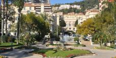 Boulingrins gardens Monaco before the installation of the Pavilions in 2014.