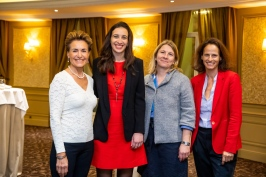 Celina Lafuente de Lavotha of Monaco Reporter with Isabelle Curau-Bloch, Virginie Hache-Vincenot and Annabelle Jaeger-Seydoux from Energetic Transition Mission Monaco, February 5, 2019 @Philippe Fitte