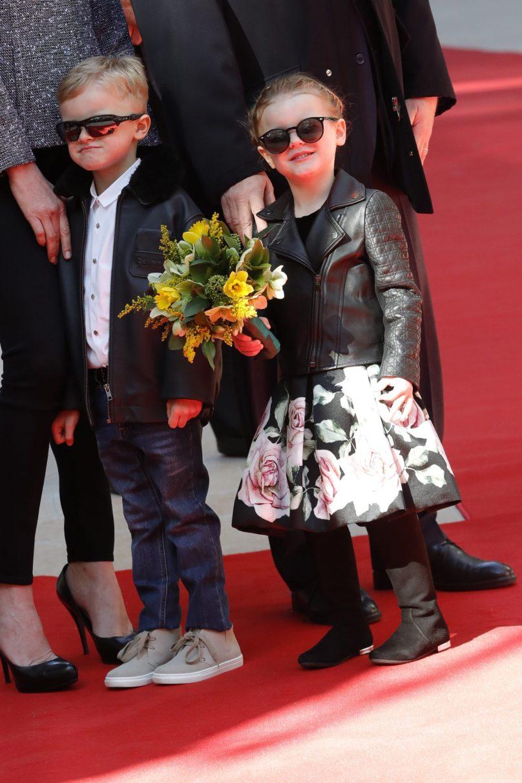 Fashionably dressed Prince Jacques and Princess Gabriella, February 22, 2019 Photo credit: Claudia Albuquerque