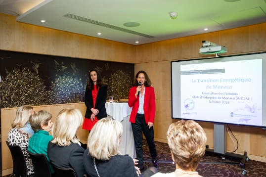 Isabelle Curau-Bloch and Annabelle Jaeger-Seydoux during the Energetic Transition Workshop organized by AFCEM, February 5, 2019 @Philippe Fitte