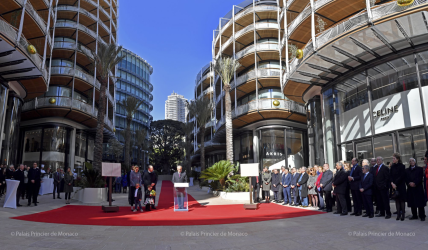 One Monte-Carlo and Promenade Princess Charlene inaugurated on February 22, 2019 @Palais Princier Monaco