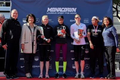 Prince Albert on the Women's Podium, Monaco Run 2019 @Manuel Vitali/Direction de la Communication