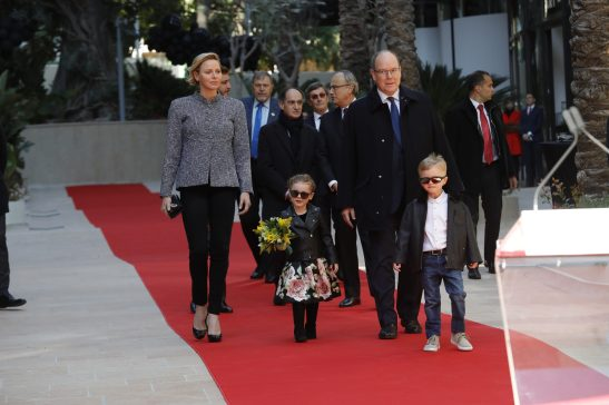 Prince Charlene, Prince Albert and their twins arriving to the inauguration of Promenade Princess Charlene and One Monte-Carlo, February 22, 2019 Photo credit: Claudia Albuquerque