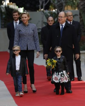 Princess Charlene and Prince Albert with their twins Prince Jacques and Princess Gabriella, with Pierre Casiraghi, Jean Castellini, Jean-Luc Biamonti Photo credit: Claudia Albuquerque
