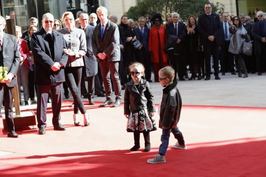 Princess Gabriella and Prince Jacques on the red carpet during inauguration of Promenade Princess Charlene and One Monte-Carlo, February 22, 2019 Photo credit: Claudia Albuquerque