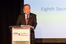 Ban Ki-Moon guest of honor of CleanEquity Monaco 2019 @Francois Cima